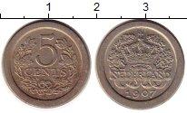 Изображение Монеты Нидерланды 5 центов 1907 Медно-никель XF