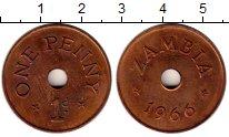 Изображение Монеты Африка Замбия 1 пенни 1966 Бронза XF