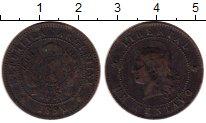 Изображение Монеты Аргентина 1 сентаво 1890 Медь VF