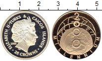 Изображение Монеты Великобритания Теркc и Кайкос 25 крон 2000 Серебро Proof-