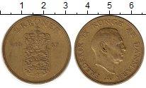 Изображение Монеты Дания 2 кроны 1957 Латунь XF Фредерик IX