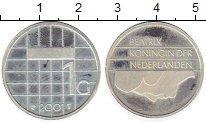 Изображение Монеты Нидерланды 1 гульден 2001 Серебро Proof-