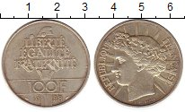Изображение Монеты Франция 100 франков 1988 Серебро UNC-