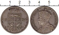 Изображение Монеты Фиджи 1 флорин 1934 Серебро XF Георг V