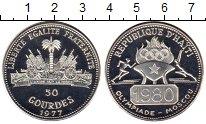Изображение Монеты Северная Америка Гаити 50 гурдес 1977 Серебро Proof-