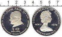 Изображение Монеты Северная Америка Доминиканская республика 10 долларов 1978 Серебро Proof-