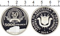 Изображение Монеты Бурунди 5000 франков 2014 Серебро Proof