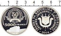 Изображение Монеты Африка Бурунди 5000 франков 2014 Серебро Proof