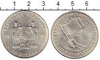 Изображение Монеты Южная Америка Суринам 10 гульденов 1976 Серебро UNC-