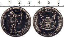 Изображение Монеты Африка Намибия 1 доллар 1990 Медно-никель UNC-