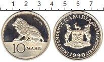 Изображение Монеты Намибия 10 марок 1990 Серебро Proof