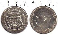 Изображение Монеты Люксембург 100 франков 1964 Серебро UNC-