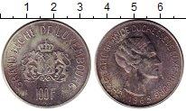 Изображение Монеты Европа Люксембург 100 франков 1963 Серебро UNC-