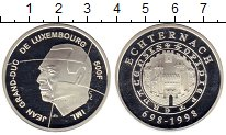 Изображение Монеты Люксембург 500 франков 1998 Серебро Proof 1300 - летие  Эхтерн