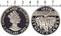Изображение Монеты Каймановы острова 5 долларов 1992 Серебро Proof