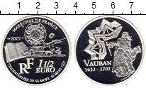 Изображение Монеты Европа Франция 1 1/2 евро 2007 Серебро Proof