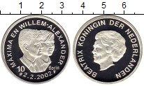 Изображение Монеты Европа Нидерланды 10 флоринов 2002 Серебро Proof