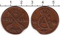 Изображение Монеты Швеция 1/4 скиллинга 1808 Медь XF