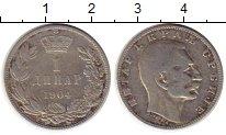 Изображение Монеты Европа Сербия 1 динар 1904 Серебро XF-