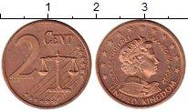 Изображение Монеты Великобритания 2 евроцента 2002 Бронза UNC-