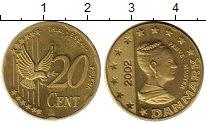 Изображение Монеты Дания 20 центов 2002 Латунь UNC-
