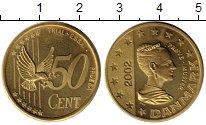 Изображение Монеты Дания 50 евроцентов 2002 Латунь UNC