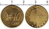 Изображение Монеты Европа Швеция 10 евроцентов 2003 Латунь UNC-