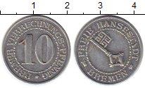 Изображение Монеты Бремен 10 пфеннигов 1924 Алюминий XF+