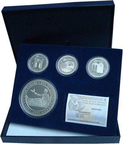 Изображение Подарочные монеты Испания 5 лет Евро 2007 Серебро Proof