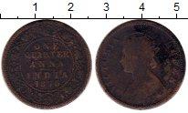 Изображение Монеты Азия Индия 1/4 анны 1876 Медь VF
