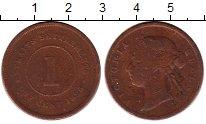 Изображение Монеты Великобритания Стрейтс-Сеттльмент 1 цент 1890 Бронза VF