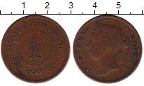 Изображение Монеты Стрейтс-Сеттльмент 1 цент 1901 Бронза VF