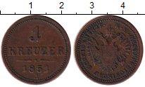 Изображение Монеты Европа Австрия 1 крейцер 1851 Медь XF-