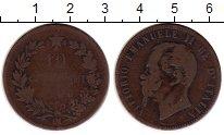 Изображение Монеты Европа Италия 10 сентесим 1866 Медь VF