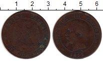 Изображение Монеты Франция 10 сантим 1855 Бронза VF