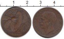 Изображение Монеты Европа Италия 10 сентесим 1924 Бронза XF