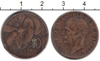 Изображение Монеты Европа Италия 10 сентесим 1929 Бронза XF