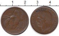Изображение Монеты Италия 10 сентесим 1922 Бронза XF