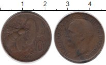 Изображение Монеты Европа Италия 10 сентесим 1922 Бронза XF