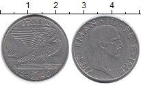 Изображение Монеты Италия 50 сентесим 1939 Никель XF