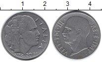Изображение Монеты Европа Италия 20 сентесим 1941 Никель XF