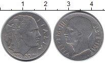 Изображение Монеты Италия 20 сентесим 1940 Никель XF Виктор Эммануил III