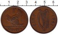 Изображение Монеты Ирландия 1 пенни 1941 Бронза XF Курица