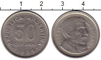 Изображение Монеты Аргентина 50 сентаво 1954 Медно-никель XF