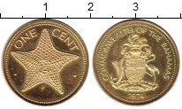 Изображение Монеты Багамские острова 1 цент 1974 Латунь Proof-