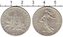 Изображение Монеты Европа Франция 2 франка 1899 Серебро VF