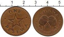 Изображение Монеты Гана 1 песева 1975 Бронза VF
