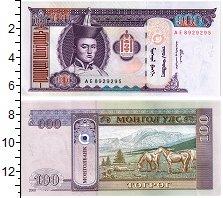 Изображение Банкноты Монголия 100 тугриков 2000  UNC