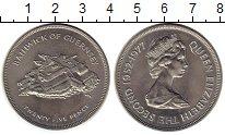 Изображение Монеты Гернси 25 пенсов 1977 Медно-никель XF 25 лет правления Ели