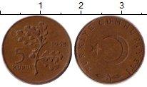 Изображение Монеты Турция 5 куруш 1958 Бронза VF